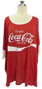 Wildfox Oversized Tee Couture Coca Cola T Shirt Red