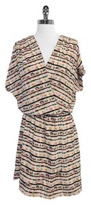 BCBGMAXAZRIA short dress Print Silk Short Sleeve on Tradesy