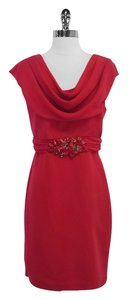 Badgley Mischka short dress Carmine Embelished Cap Sleeve on Tradesy