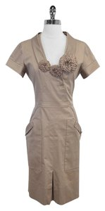 Valentino short dress Taupe Embellished Short Sleeve on Tradesy