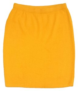 St. John Goldenrod Yellow Knit Knit Skirt