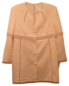 Chado Ralph Rucci Wool Detail Beige Cream Jacket