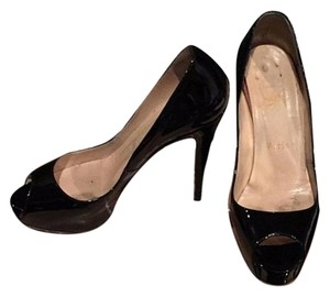 Christian Louboutin Very Prive Black patent Platforms