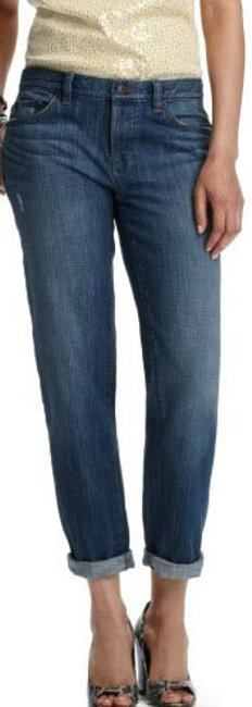 Ann Taylor LOFT Straight Leg Jeans-Medium Wash