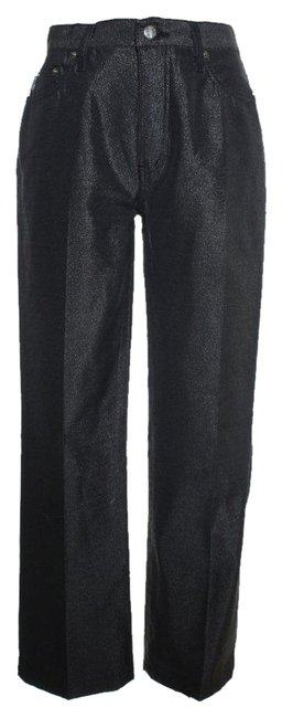 Moschino Jeans Shimmer Straight Pants Black