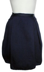 ADAM Denim Tulip Mini Skirt Blue