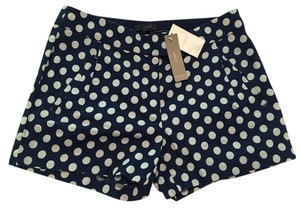 J.Crew Dress Shorts Navy / white polka dot