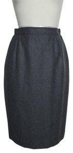 Valentino 100% Wool Pencil Skirt Gray