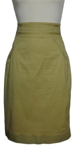 Zac Posen Pencil Skirt Khaki