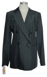 Bill Burns New York Double-breasted Wool Blend Gray Blazer