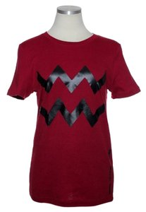 Norma Kamali Organic Cotton Zodiac:aquarius T Shirt Red