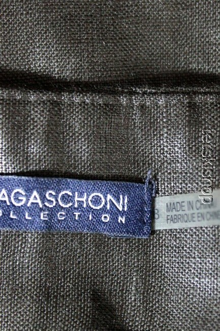 Magaschoni Coated Linen Capris Brown