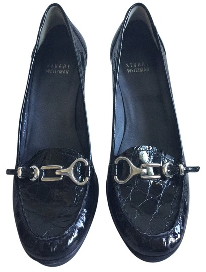 Preload https://item5.tradesy.com/images/stuart-weitzman-made-in-spain-black-patent-with-chrome-buckles-leather-european-spanish-loafers-tass-4500769-0-0.jpg?width=440&height=440