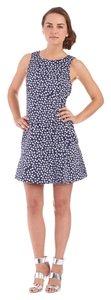 Kensie short dress Navy Blue Polka Dot on Tradesy