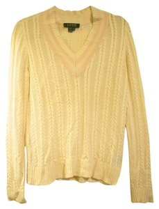Lauren Ralph Lauren V-neck Cable-knit Sweater