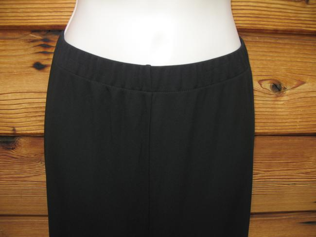 DKNY Polyester Knit Elastic Plus Wide Leg Pants Black