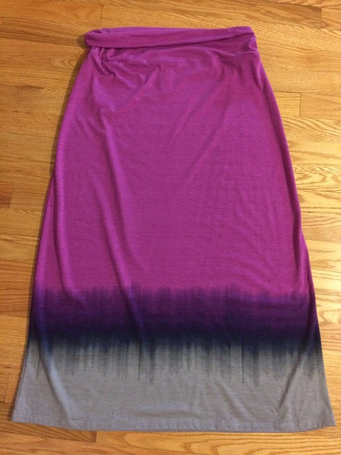 Faded Glory Maxi Skirt purple multi color
