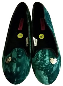 Betsey Johnson Teal/Green Flats