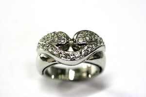 White Gold Lip Love Diamond Ring Other