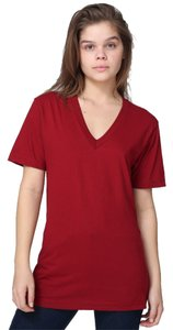 American Apparel V-neck Jersey T Shirt Cranberry