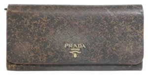 Prada PRADA Brown Speckled Wallet