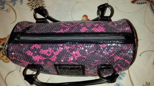 Betsey Johnson Satchel in Black and pinl