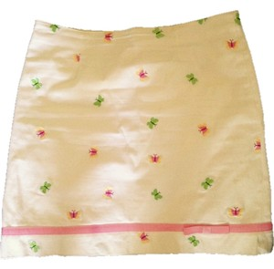 Lilly Pulitzer Pink Yellow Green Skirt White