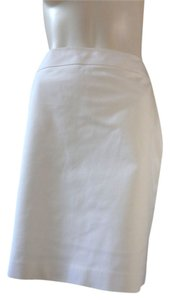 Halogen Stretchy Career Knee Length Skirt White