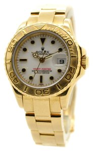 Rolex Rolex Yachtmaster 18K Yellow Gold White Dial Ladies Watch