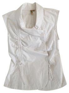502 Cotten Vest Top White