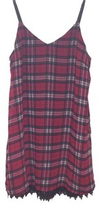 Tobi short dress Red Plaid on Tradesy