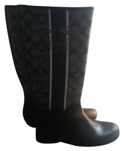 Coach Black/White Boots