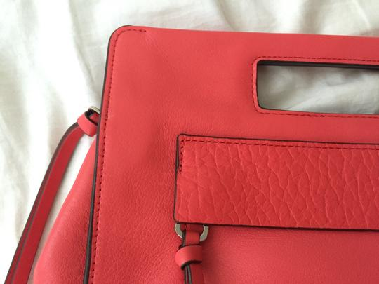 Coach Leather Structured Spring Summer Bright Love Red Clutch
