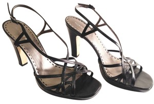 Gianni Bini Carly Strappy Leather Black Sandals