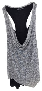 Ella Moss Top Black & Gray