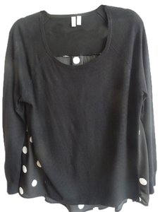 1 Madison T Shirt Black with white dots