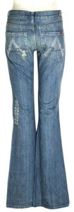 7 For All Mankind Crystal A A-pocket Flare Leg Jeans-Distressed