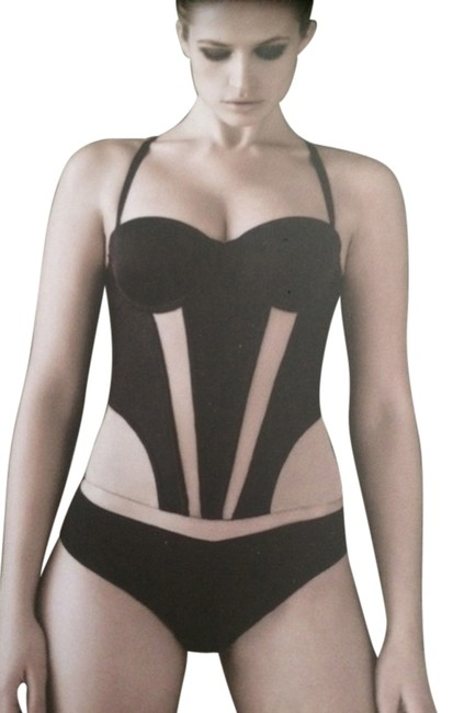 Mission Control Shapewear Bustier Top Black and Nude