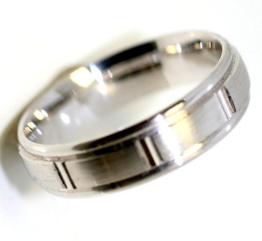 Bandolino White Gold 6mm Men's Wedding Bands