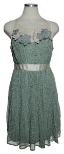 Ryu short dress Green Crinkle Sleeveless on Tradesy