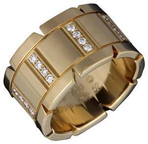 Cartier Cartier 18k Tank Francaise Yellow Gold Diamond Large Wide Cocktail Wedding Band Ring.