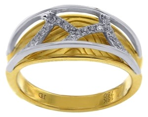 Other BRAND NEW, Web Overlay 18K Yellow Gold Diamond Ring