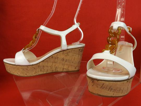 Prada White Wedges