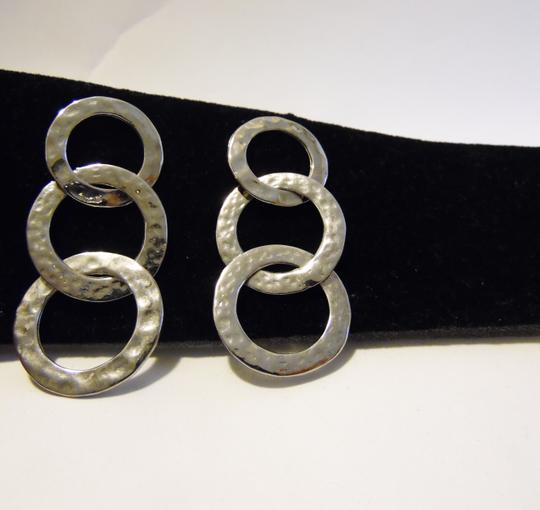 Silver Style Silver Style .925 Sterling Silver Circle Pierce Earrings