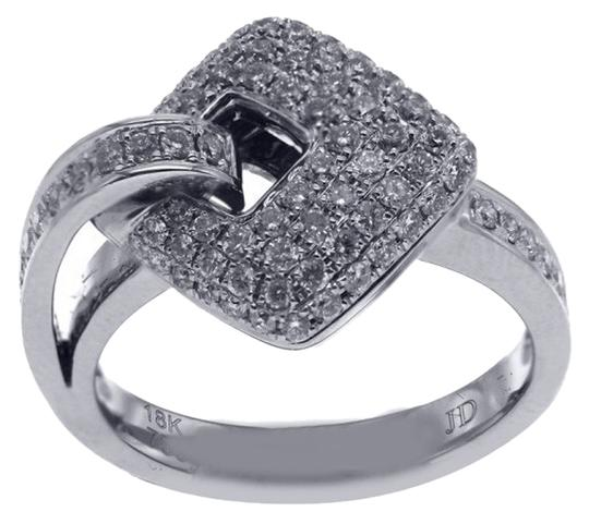 Other BRAND NEW, 18KT White Gold Buckle Pave Diamond Ring