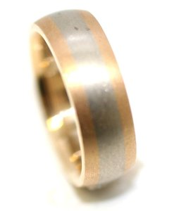 Two Tone Math Wedding Band