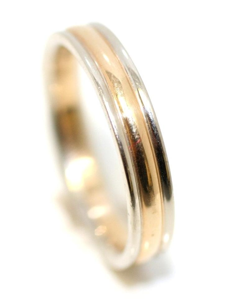 gold anniversary mm mens flat band handmade womans womens ring yellow wedding diamond bands