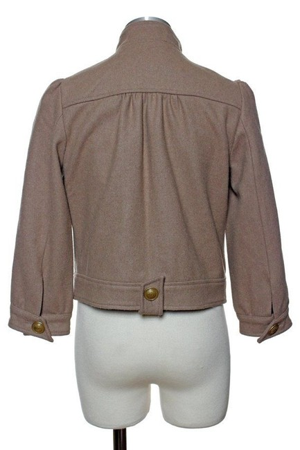 Anthropologie Wool Double Breasted Long Sleeve Bomber Military Jacket