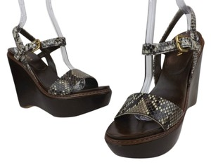 Prada Ash/Dark Brown Wedges