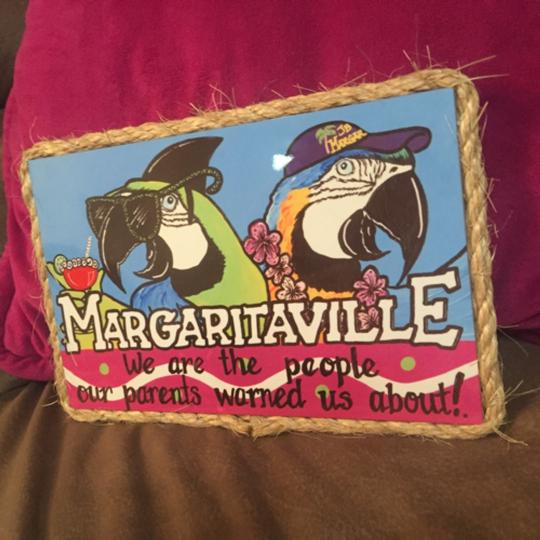 "Jimmy Buffet Margaritaville Jimmy Buffet Margaritaville Caribbean ""We are the people our parents warned us about!"" Wall Decor Sign!"